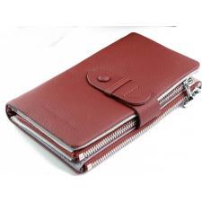 Женское кожаное портмоне бордовое 12-99D36-12