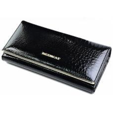 Женский кожаный кошелек черный OD10-150D