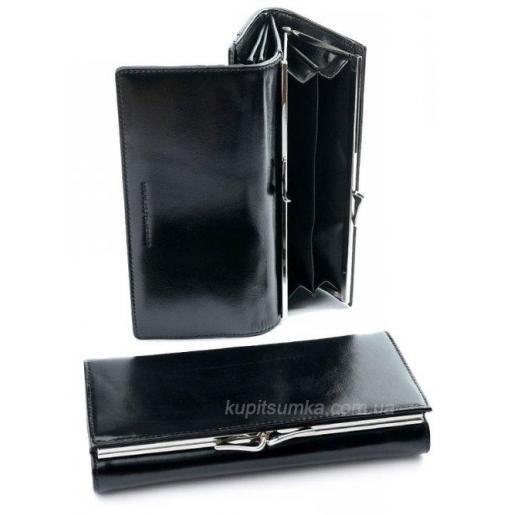 Женский кошелек из кожи черного цвета AД180-9812-2
