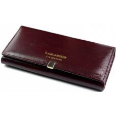Кожаный женский кошелек A000D1-2 Бордовый