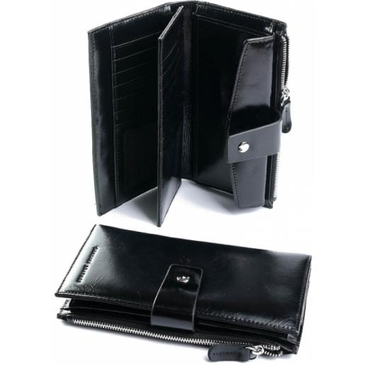Женский кожаный кошелек 1712 Black