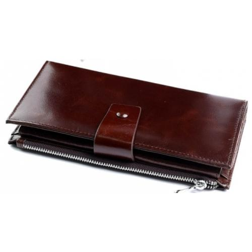 Женский кожаный кошелек DO17-12-3 Коричневый