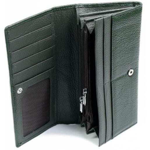 Кожаный женский кошелек DO0-7 Зеленый