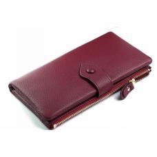Женский красный кошелек кожаный OD60-05D