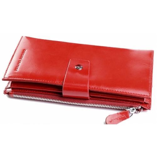 Женский кошелек из натуральной кожи DO17-12 Красный