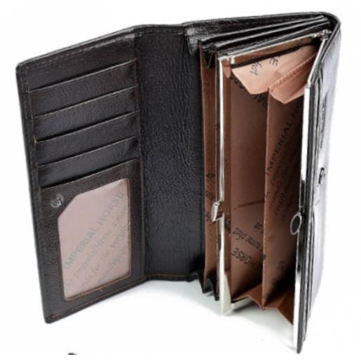 Женский кожаный кошелек DFA0003 Коричневый