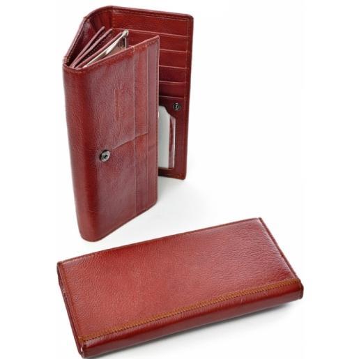 Женский кожаный кошелек DFA000-1 Красный