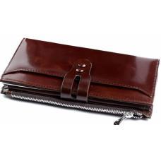 Женский кожаный кошелек DO1711 Коричневый