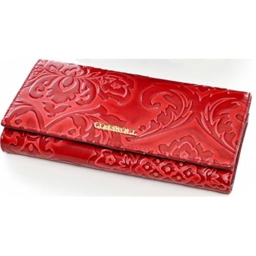 Женский кожаный кошелек DO91-12-1 Красный