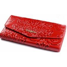 Кожаный женский кошелек DO90-31 Красный