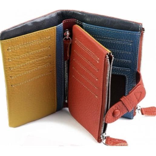 Женский кожаный кошелек 27-99D36 Оранжевый