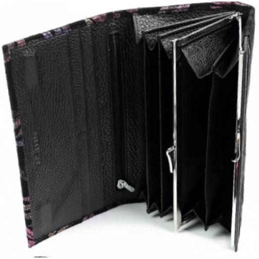 Женский кошелек из замши 5242-3 Черный