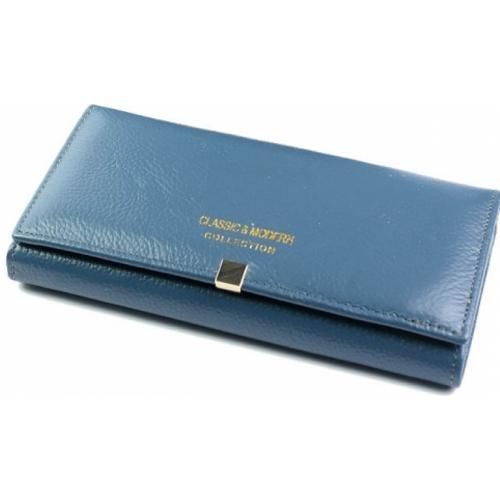 Женский кожаный кошелек A000D1-4 Голубой