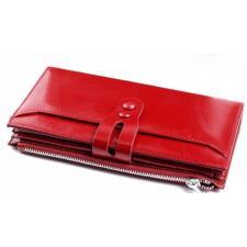 Женский кошелек кожаный красный 18817D11