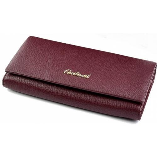 Женский кожаный кошелек 52D42-3 Бордовый