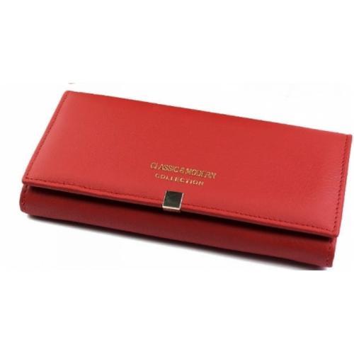 Женский кошелек из кожи A000D1-3 Красный