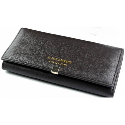 Женский кожаный кошелек A000D1-1 Коричневый