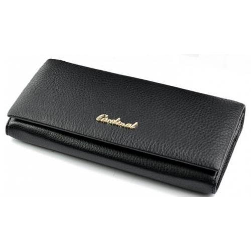 Женский кожаный кошелек 52D42-2 Черный