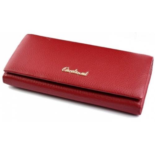 Женский кожаный кошелек 52D42-1 Красный