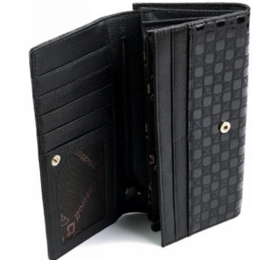 Женский кожаный кошелек COSSROLL 2-91D12 Черный