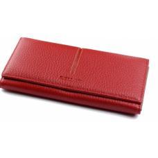 Женский кошелек кожаный красный OD33D66-1