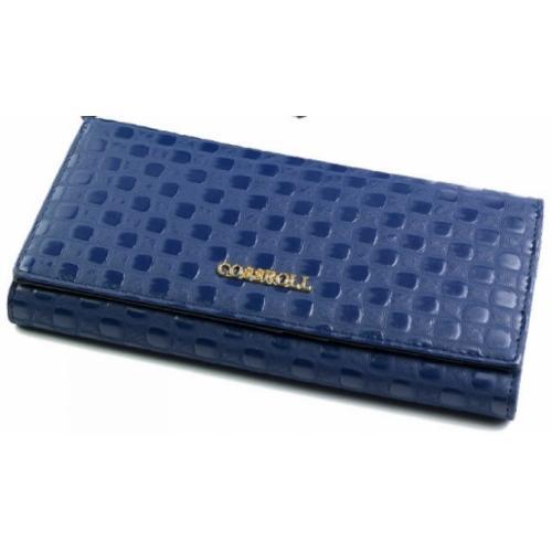 Кожаный женский кошелек COSSROLL 4-91D12 Синий