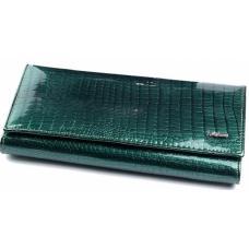 Кошелек женский кожаный зеленый OD150-1