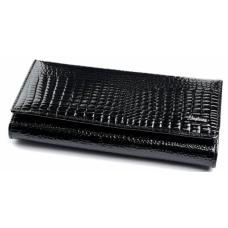 Кошелек женский кожаный черный OD150-3