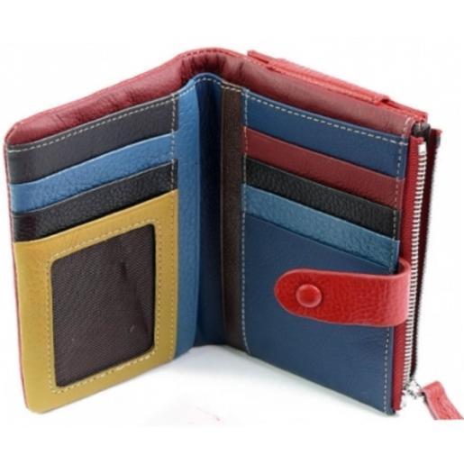 Женский кожаный кошелек 1-99D28 Красный
