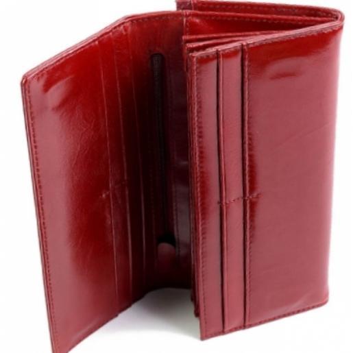 Портмоне из натуральной кожи 9812-12 Красный