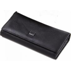 Женский кожаный кошелек DFA0002 Черный