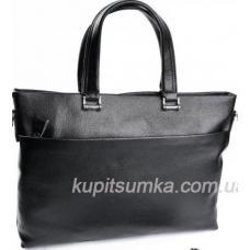 Деловая мужская сумка из натуральной кожи с большим передним карманом