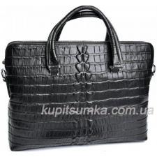Мужской портфель из натуральной тиснённой кожи