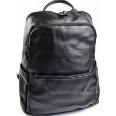 Большой рюкзак из кожи чёрного цвета