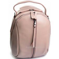 Женский рюкзак из натуральной кожи цвета пудры