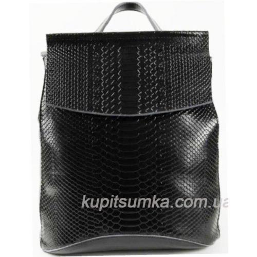 Женский рюкзак из натуральной кожи DO8504-7R черный