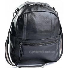 Повседневный рюкзак из натуральной кожи чёрного цвета