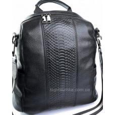 Женский  рюкзак из натуральной кожи Olivia Leather 610D-1 Чёрный