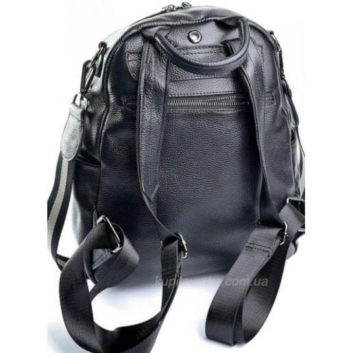 Женский кожаный рюкзак черный 61D0-1