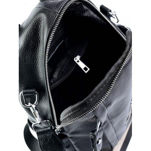 Женский кожаный рюкзак Olivia Leather 651D Черный