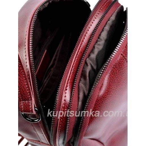 Молодёжный рюкзак из натуральной кожи Винный