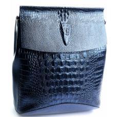 Молодежный кожаный рюкзак DO8504-10R Blue