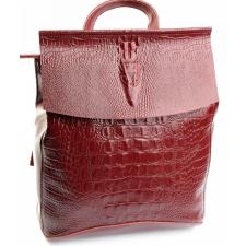 Женский рюкзак из натуральной кожи DO8504-2R красный