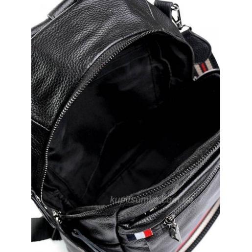 Женский кожаный рюкзак P58PETR Black
