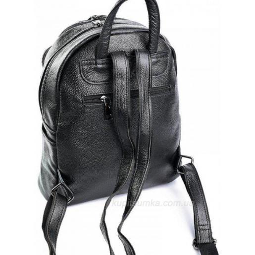 Классический женский рюкзак из натуральной кожи чёрного цвета