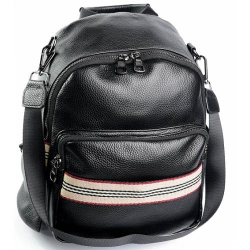 Женский кожаный рюкзак DO658 Black