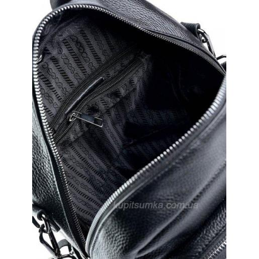 Женский рюкзак из натуральной кожи Olivia Leather 64D4 Черный