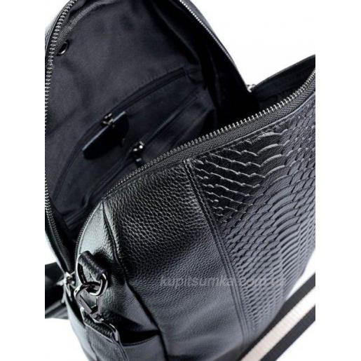 Стильный рюкзак из натуральной кожи Чёрный