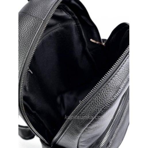 Женский вместительный рюкзак из зернистой натуральной кожи