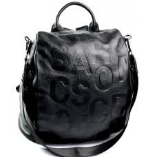 Кожаный женский рюкзак черный 61D06-2834